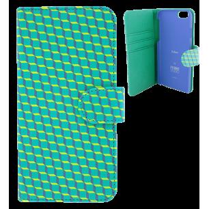 Custodia a portafoglio per iPhone 6, 6S - Iwallet - Cubes