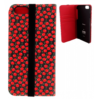 Flap cover for iPhone 6, 6S - Iwallet - Cherry