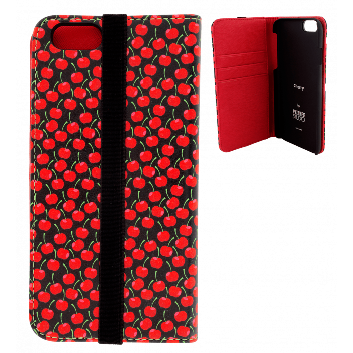 Iwallet - Coque à clapet pour iPhone 6, 6S Cherry