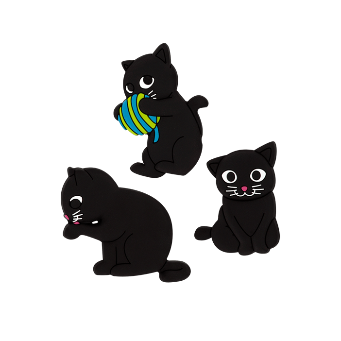 Happy Cat - Set de 3 aimants Blu