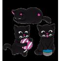 Happy Cat - Set de 3 aimants