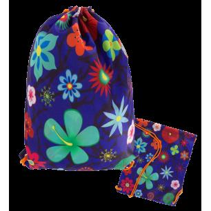 Swimming bag - Swim DS - Blue Flower