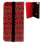 Flap cover/wallet case for iPhone 6, 6S, 7 - Iwallet 2 Dahlia