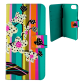 Flap cover/wallet case for iPhone 6, 6S, 7 - Iwallet 2 Coquelicots