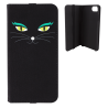 Iwallet - Coque à clapet pour iPhone 6, 6S Black Cat