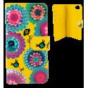 Iwallet - Coque à clapet pour iPhone 6, 6S Dahlia