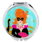 Pocket mirror - Lady Look Orchid Blue