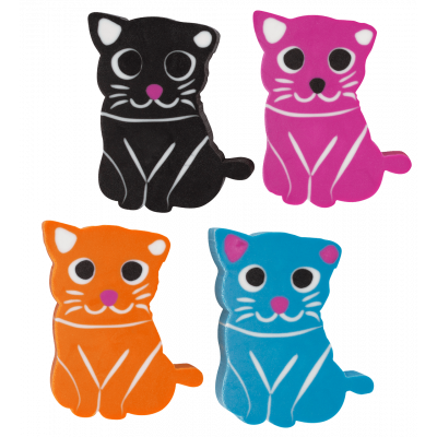Set of 4 erasers - Cateraser