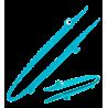 Croc'odile - Pince de cuisine Bleu