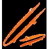 Croc'odile - Pince de cuisine Orange