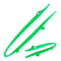 Croc'odile - Pince de cuisine Vert