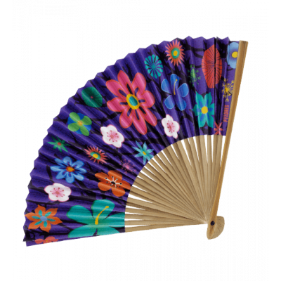 Fan - LHO - Blue Flower