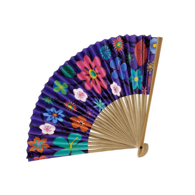 Fan - LHO Blue Flower