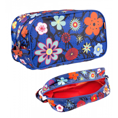 Toiletry case - Tidy - Blue Flower