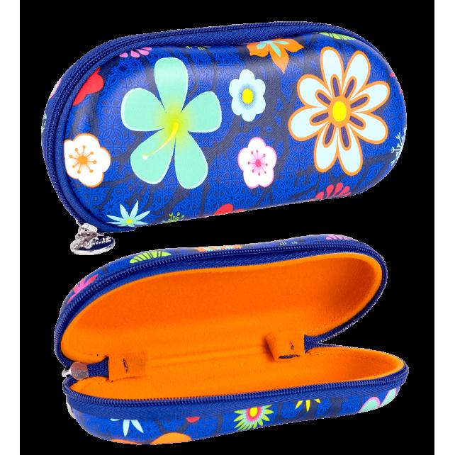 Festes Brillenetui - Voyage Blue Flower