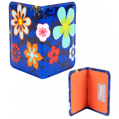Passport holder - Voyage - Blue Flower