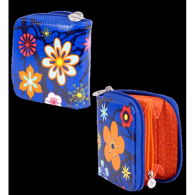 S-WA. Voyage - Petit portefeuille Blue Flower
