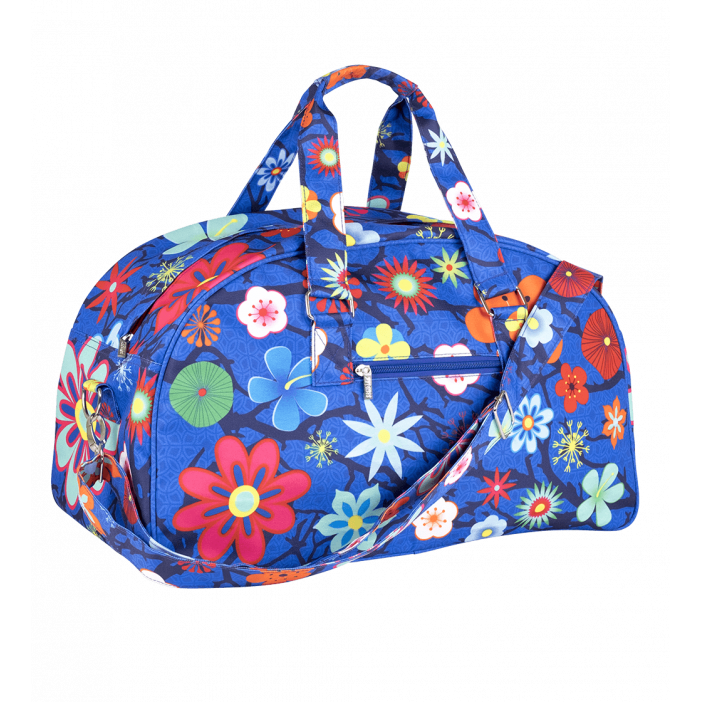 Week-end bag - Week End Blue Flower
