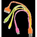 USB Multi 2 - Câble USB multifonction 4 en 1