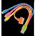 Multifunktions-USB-Kabel 4 in 1 - USB Multi 2 Gelb