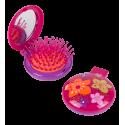 Haarbürste mit Spiegel 2 in 1 - Lady Retro Papilion