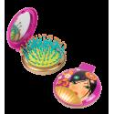 Haarbürste mit Spiegel 2 in 1 - Lady Retro Panda