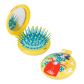 2 in 1 hairbrush and mirror - Lady Retro Papilion