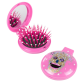2 in 1 hairbrush and mirror - Lady Retro Licorne Rose