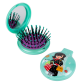 2 in 1 hairbrush and mirror - Lady Retro Blue Owl