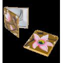 Pocket mirror - Mimi White Flower