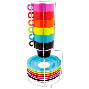 Néon - Torre di tazze espresso