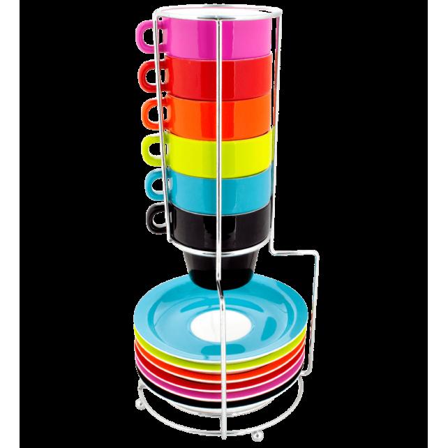 Néon - Stack of cups espresso