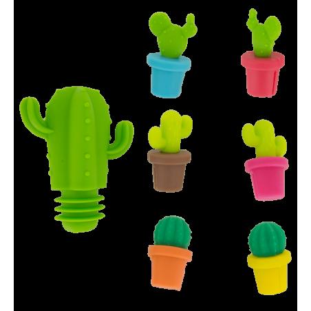 Cactus - Marqueurs de verre et bouchon