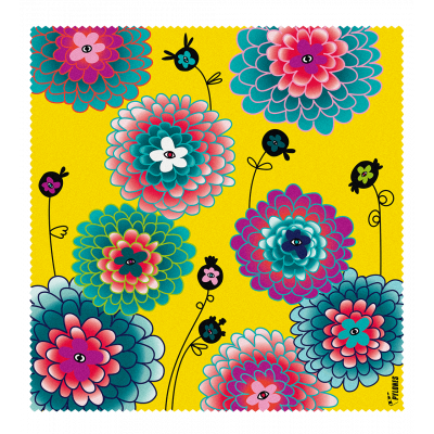 Microfibre cloth for glasses - Belle Vue - Dahlia