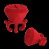 Diamond Polish- Support à vernis Rouge