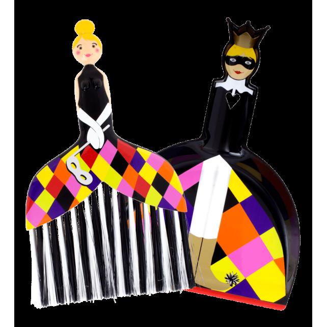 Cendrillon - Pelle et balayette Arlequin