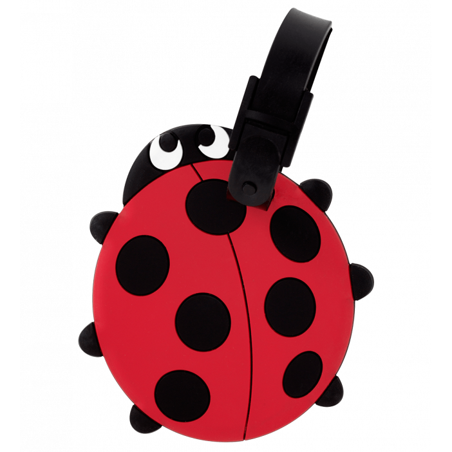 Luggage label - Ani-luggage Ladybird