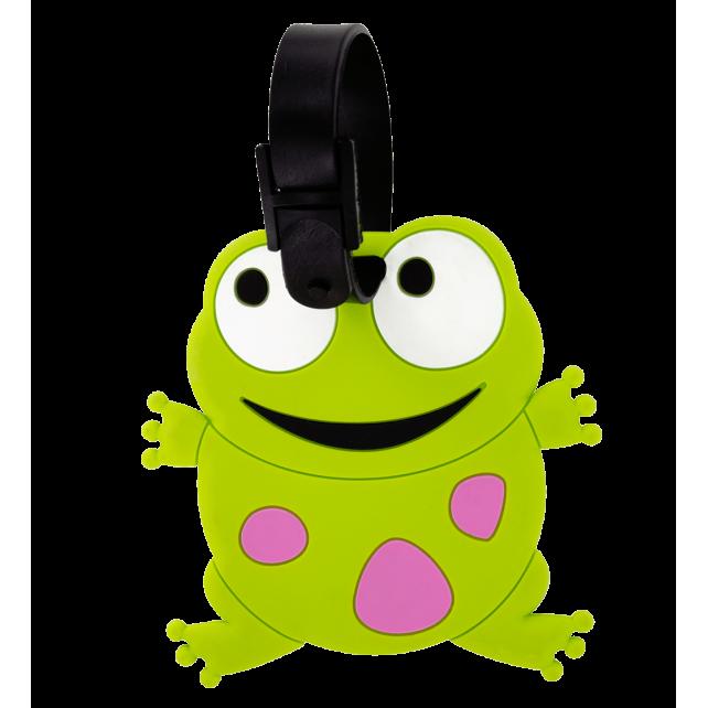 Luggage label - Ani-luggage Frog