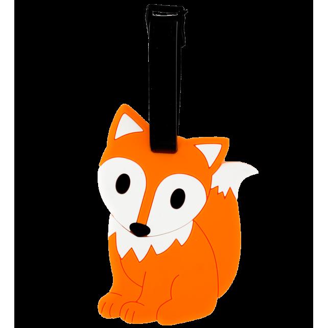 Luggage label - Ani-luggage Fox