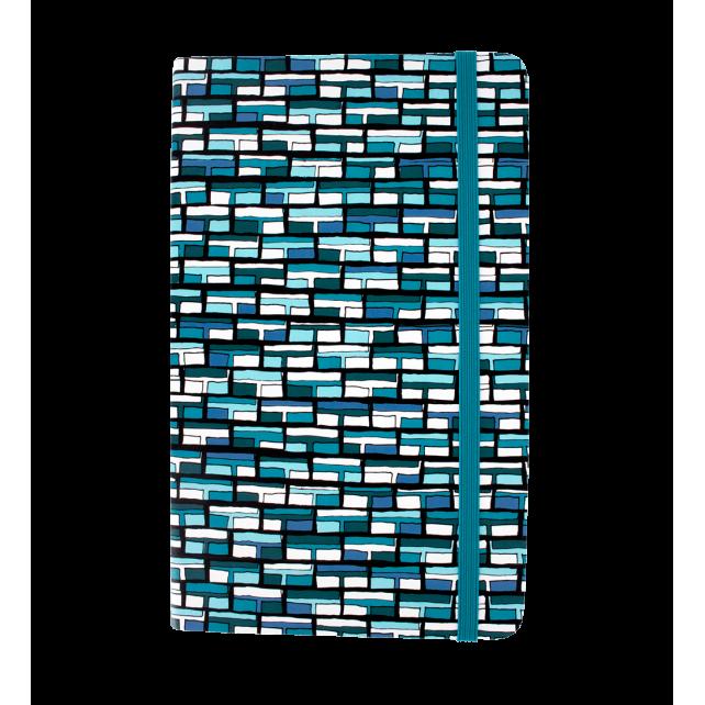 Large notebook - Note My Ideas Vitrail Bleu