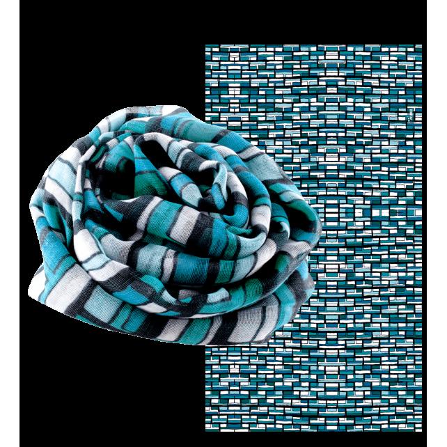 Balade Vitrail - Foulard Vitrail Bleu