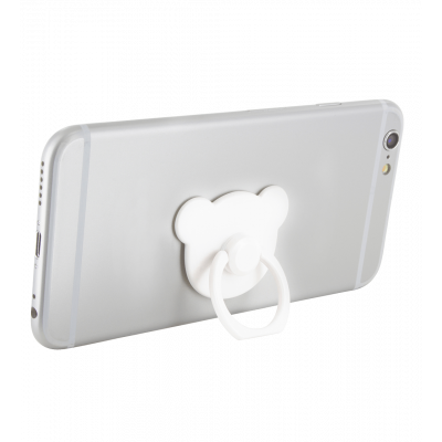 Ring phone holder - Addict - White