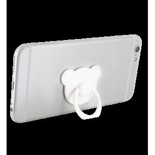 Support bague de téléphone - Addict - Blanc