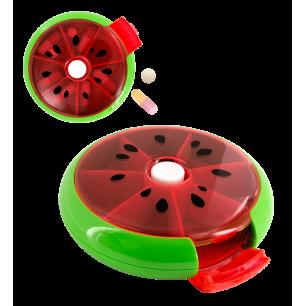 Pillendose rund 7 Tage - Spin Doctor - Wassermelone