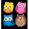 Set of 4 erasers - Owleraser