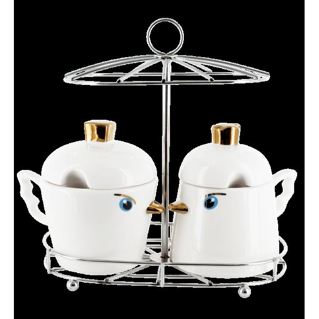 Twins tweet - petits pots Blanc