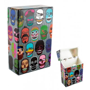 Étui pour paquet de cigarettes - Clop'in - Skull 3