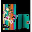 Coque à clapet pour iPhone 5/5E - iWallet Orchid
