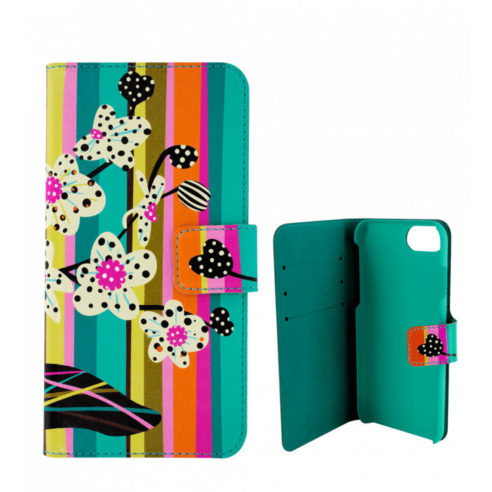 Flap cover/wallet case for iPhone 5/5E - iWallet Orchid
