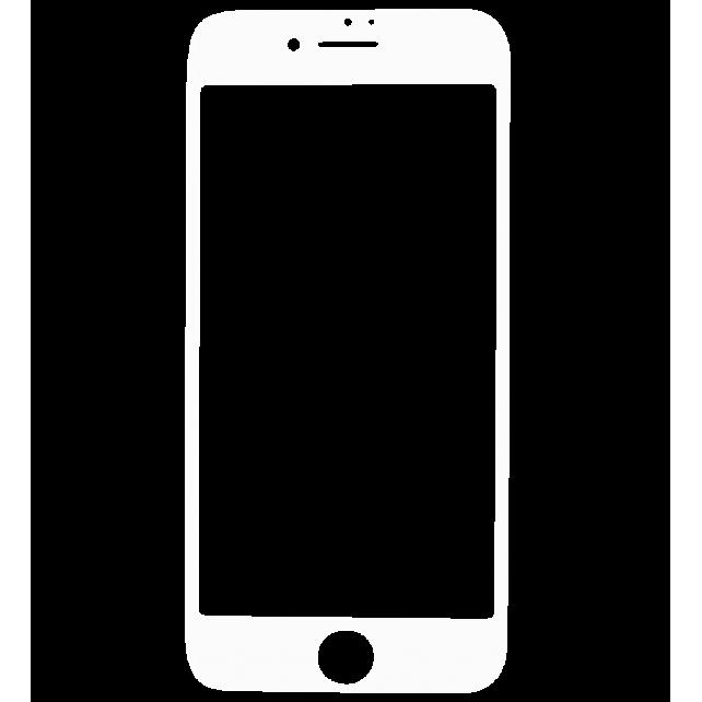 Glas Schutzfolie für iPhone 6/7 - I Protect Weiss